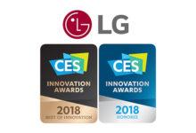 LG si aggiudica numerosi CES Innovation Award 2018