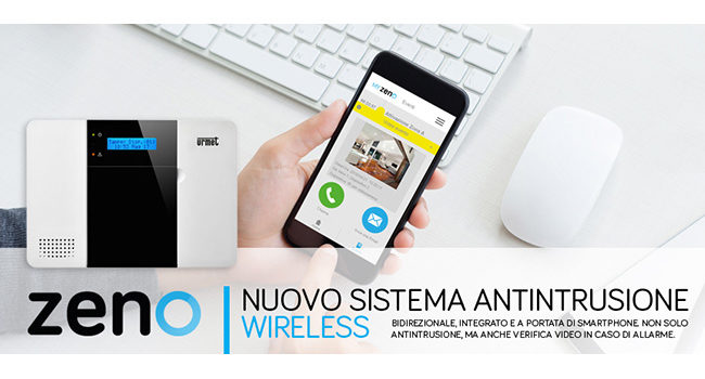 Urmet Zeno, il sistema antintrusione wireless che sorveglia la tua casa