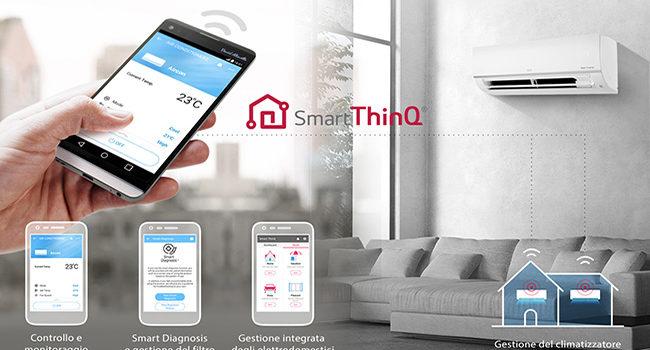 Con LG Libero Plus R32 e Smart ThinQ, la temperatura è sempre sotto controllo
