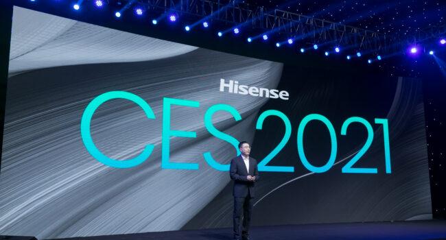 A CES 2021 Hisense punta sulla linea dei TriChroma Laser TV